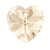 Swarovski 6228 Xilion Heart Pendant 10.3x10mm Light Silk